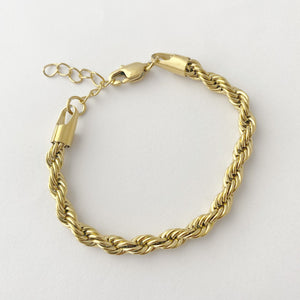 Twist Chain Bracelet, Gold Bracelet