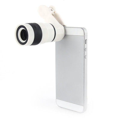 8x Universal Optical Zoom Lens For Cellphones - Distance And Marco Shooting - Telescope With Clip And Eyecups