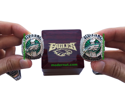 Eagles Logo Cherry Wood Ring Box