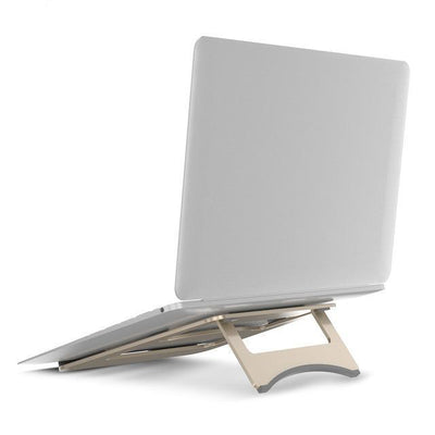 Aluminum Alloy Portable Laptop And Tablet Stand For MacBook - Rose Gold, Silver, Gold
