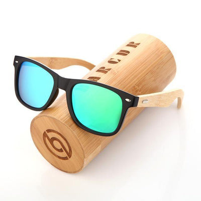 Barcur Bamboo Polarized Ice Mirrored Sunglasses