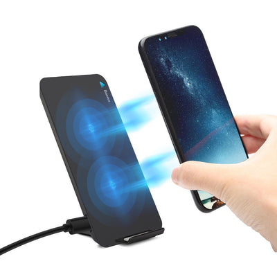 Baseus Fast Qi Wireless Charger Pad Stand For IPhone & Android