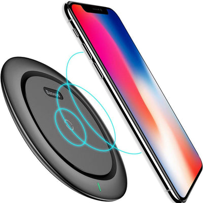 Baseus Leather Ultra Slim Qi Fast Wireless Charging Pad For IPhone & Android