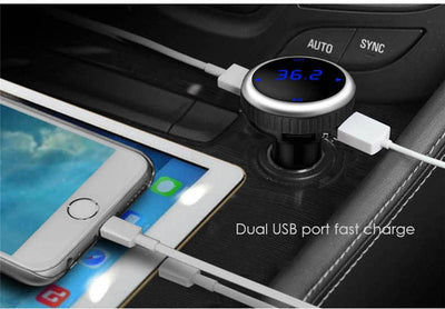 Bluetooth Wireless Music Player, Hands Free Calls And USB Charging Dock For The Car