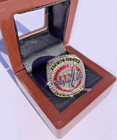 Washington Capitals Stanley Cup Championship Ring Replica - Exclusive Red Stones Edition