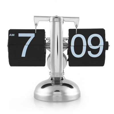 Desktop Flip Clock - Modern Appearance Vintage Design - Internal Gear Operated Quartz Clock