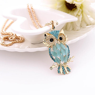 "Earth Day 2018 ""Be The Change"" Event - Rose Gold Or Silver With Crystals Owl Pendant Necklace"