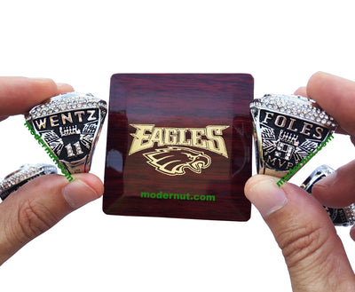 EXCLUSIVE BLACK SIDES EDITION PHILADELPHIA EAGLES SUPER BOWL LII RING REPLICA