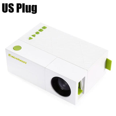 Excelvan Mini Home Theater Multimedia LCD LED Projector Full 1080P HD