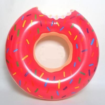 Frosted With Sprinkles Donut Inflatable Pool Ring Floaty