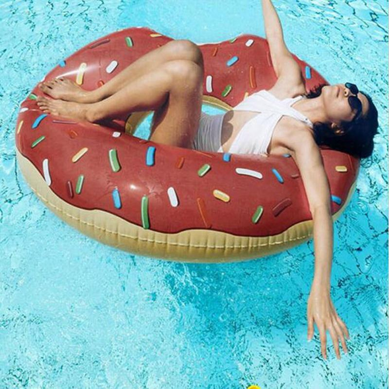 frosted with sprinkles donut inflatable pool ring floaty modernut