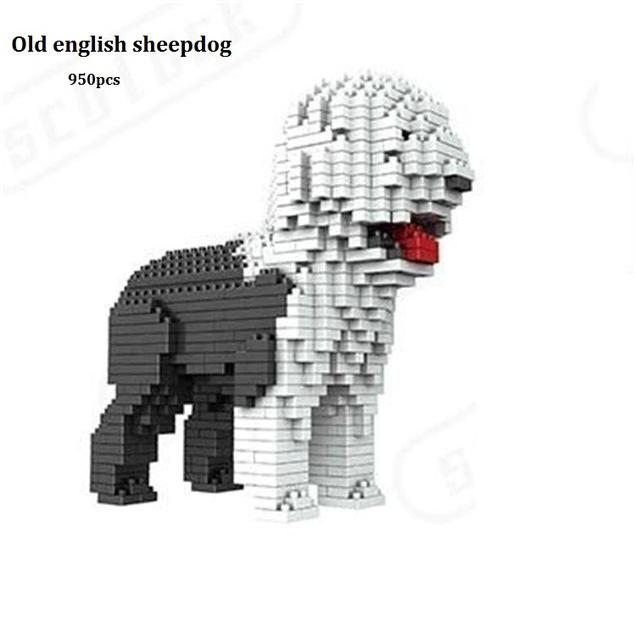 Fun Dog Mini Blocks Puzzle - Choose From Eight Popular Breeds With 900 Pieces - Great Gift!