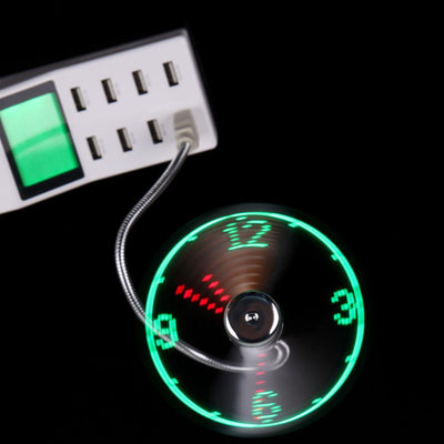 Gadgets - LED USB CLOCK FAN