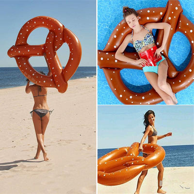 HauteFloat Giant Inflatable Vinyl 60-inch Pretzel Pool Tube