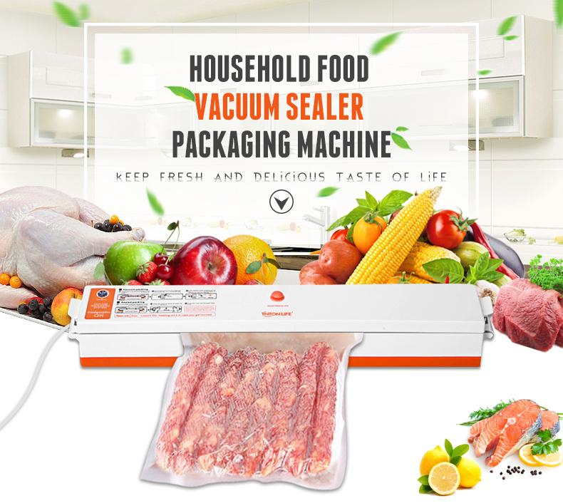 Household Vacuum Sealer - Keep Food Fresh, Includes 15 Bags