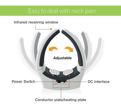 KIKI NEW GAIN Neck Massager - Wireless Portable Digital Therapeutic Massager For Neck Pain