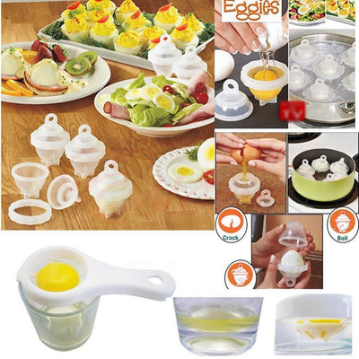 Kitchen - Egglettes Hard Boiled Egg Maker (6 Pack)