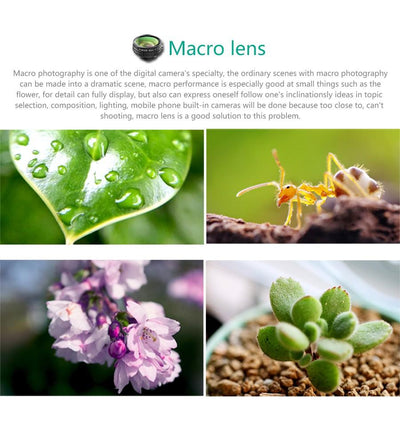 Optic Mini Camera Lens For IPhone & Android With Fisheye Macro Wide Angle