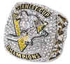 925 Silver and Zircon Crystal 2017 Pittsburgh Penguins Championship Ring
