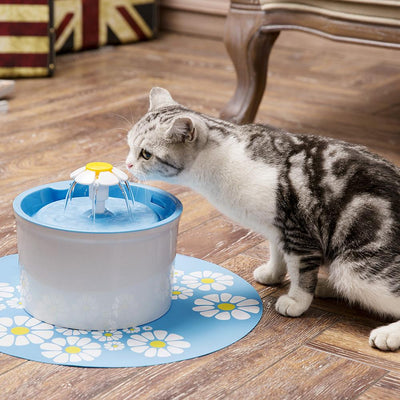 Pet Water Fountain Modern Flower Design