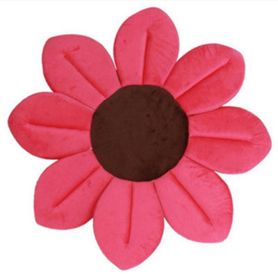 Safety Bath Mat For Newborns And Babies - Foldable Flower Shaped Soft Cushion - 11 Colors