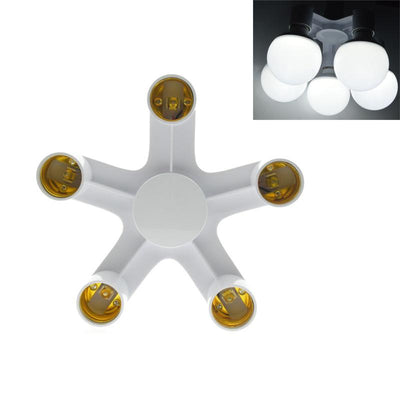 Socket Splitter Light Bulb Base Adapter In White - 4 Styles