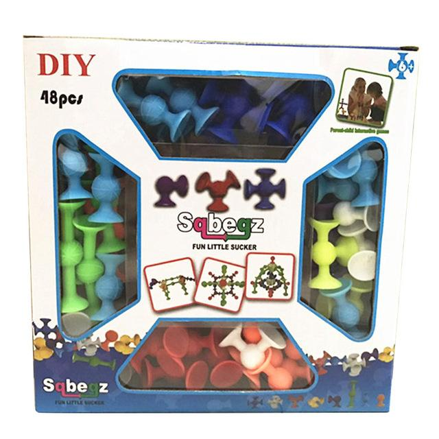 Sqbegz Silicone Building Blocks Suction Cup Construction Toys For Developing Brains