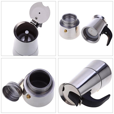 Stainless Steel Stovetop Coffee & Latte Pot