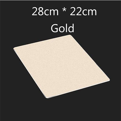 Ultra Slim Lightweight Aluminum Alloy Mouse Pad With Non Slip Rubber Backing - Rose Gold, Silver And Gold
