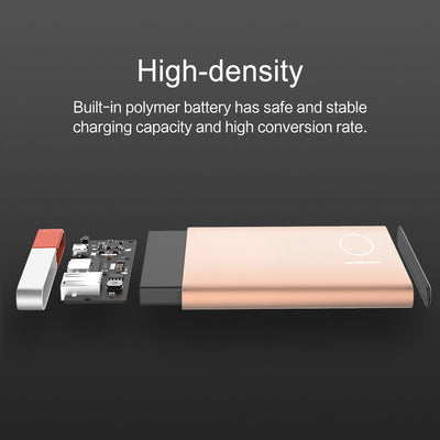 Ultra Thin Ultra Light Aluminum Alloy Powerbank - Rose Gold, Black, Gold