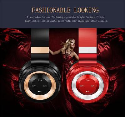 Wireless Noise Canceling Bluetooth Headphones Stereo Sound -Foldable - 5 Colors