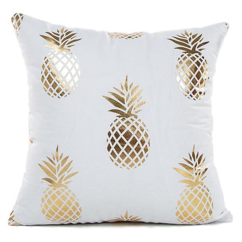 Gold Pineapple Pillow Case