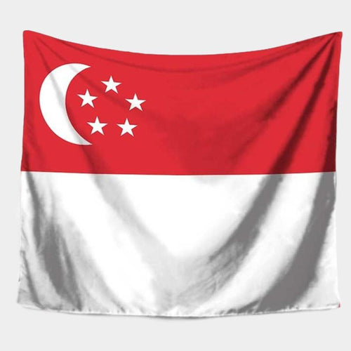 Singapore Flag Tapestry