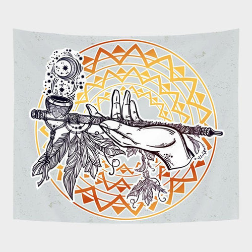 Monochrome Pipe Tapestry
