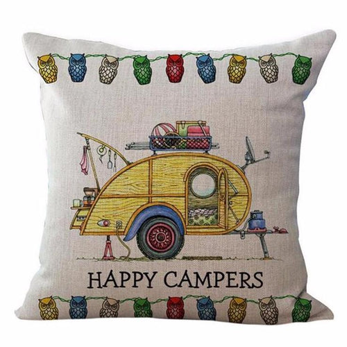 Happy Campers Pillow Case Style 4