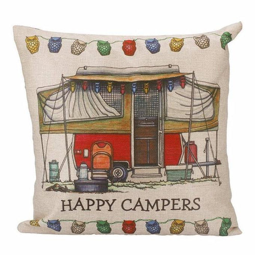 Happy Campers Pillow Case Style 8