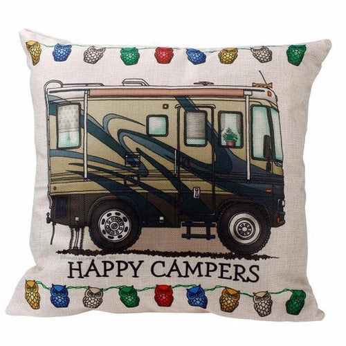 Happy Campers Pillow Case Style 7