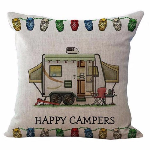 Happy Campers Pillow Case Style 3