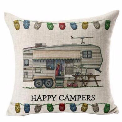 Happy Campers Pillow Case Style 5