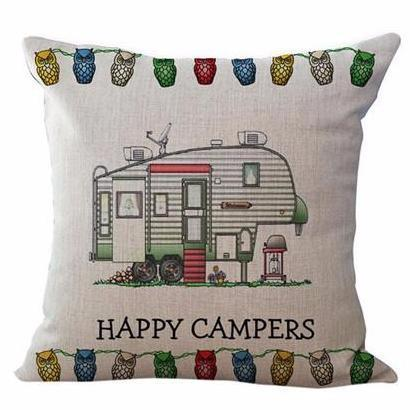 Happy Campers Pillow Case Style 10