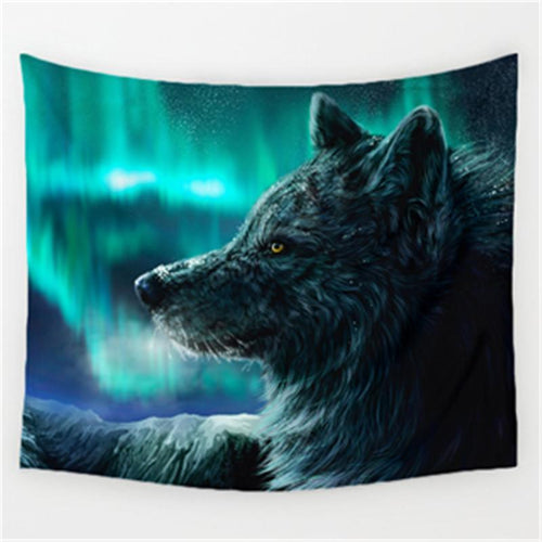 Northern Gray  Wolf Tapestry