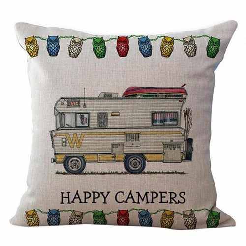 Happy Campers Pillow Case Style 1