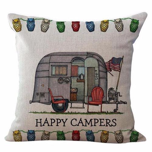 Happy Campers Pillow Case Style 2