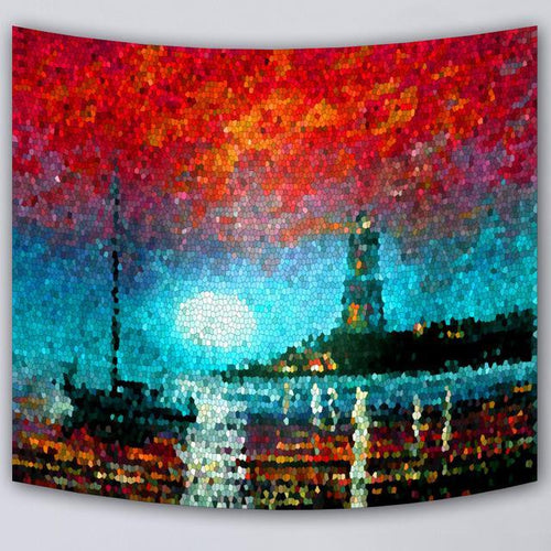 Mozaic Lighthouse Tapestry