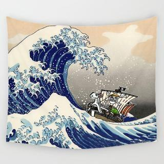 The Big Wave Tapestry