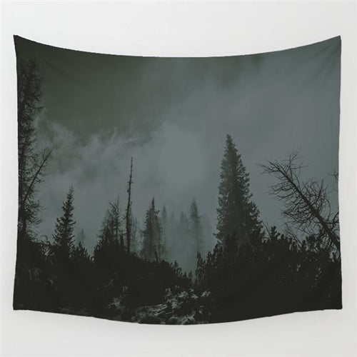 Foggy Forest Tapestry