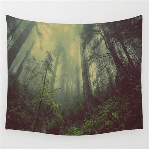 Cloudy Forest Tapestry