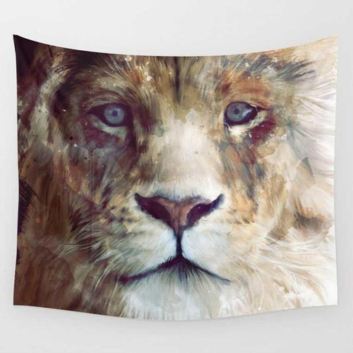 Flowy Lion Tapestry