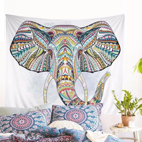 Colourful Elephant Tapestry