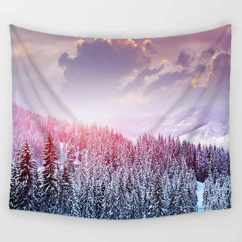White Forest Tapestry